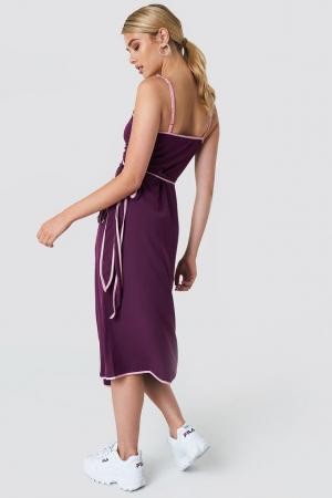 Rochie Binding Detail Wrap Over Dress1