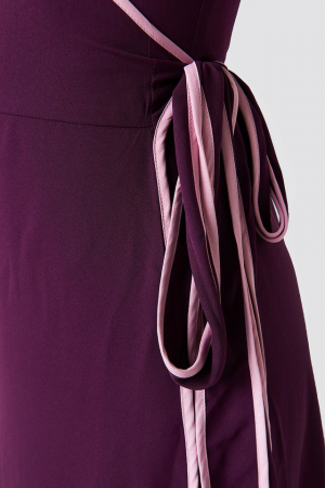 Rochie Binding Detail Wrap Over Dress3