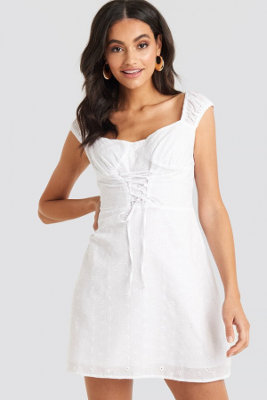 Rochie Broiderie Anglais Lace Up0