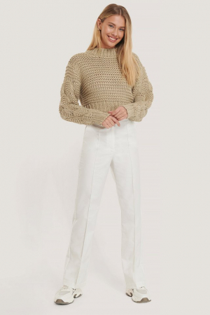 Pulover Bubble Sleeve Knitted Sweater2