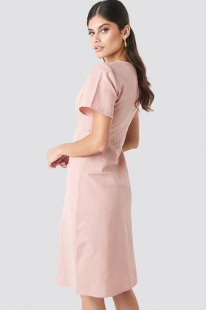 Rochie Button Front Linen-blend1