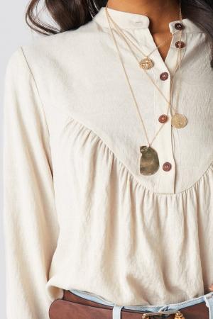 Bluza Buttoned Gathered [3]
