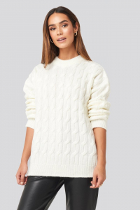 Pulover Cable Knitted Oversized [0]