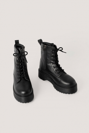 Ghete Chunky Rubber Sole Boots [2]