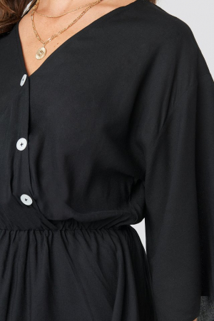 Rochie Contrast Button Layered2