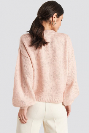 Pulover Crew Neck Volume Sleeve Knitted1