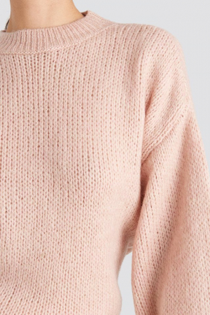 Pulover Crew Neck Volume Sleeve Knitted3