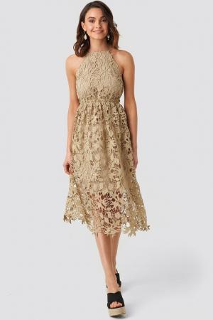 Crochet Strap Back Dress [2]