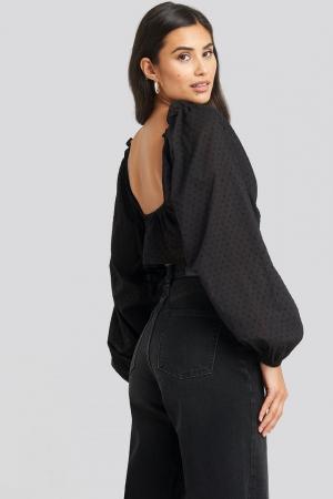 Bluza Cropped Cotton Dobby1