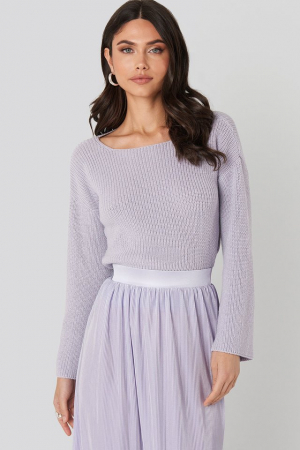 Pulover Cropped Sleeve Knitted0