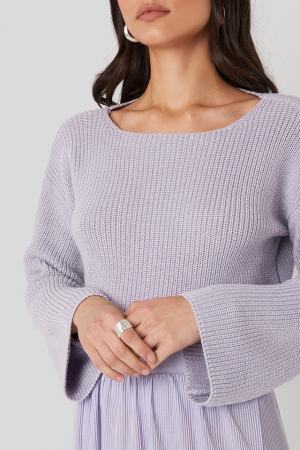Pulover Cropped Sleeve Knitted [3]