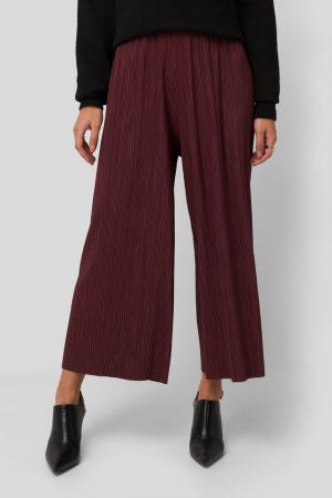 Pantaloni Cropped Plisse Culottes1