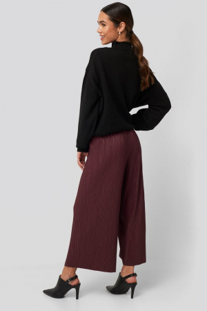Pantaloni Cropped Plisse Culottes [3]