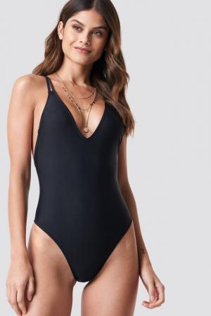 Double Cross Strap Swimsuit [1]