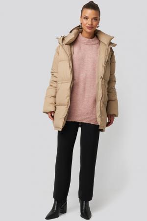 Drawstring Padded Jacket [2]