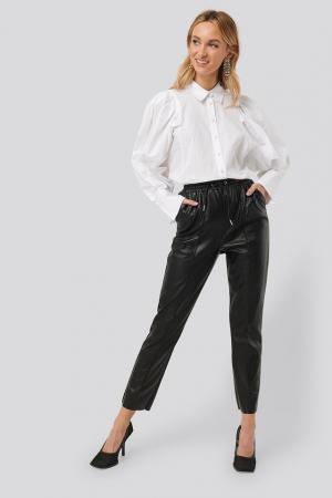 Pantaloni Drawstring PU Seam Detail0