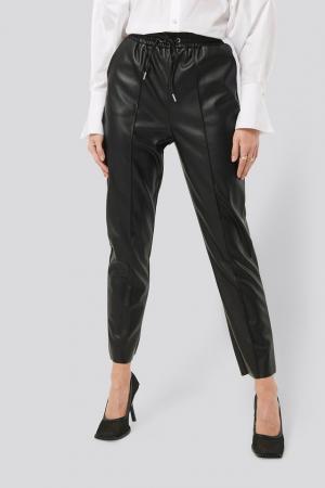 Pantaloni Drawstring PU Seam Detail2