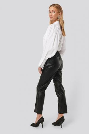 Pantaloni Drawstring PU Seam Detail3