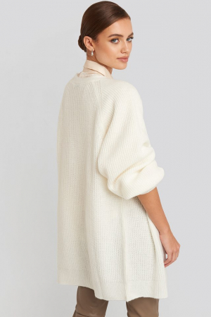 Dropped Shoulder Knitted Cardigan2