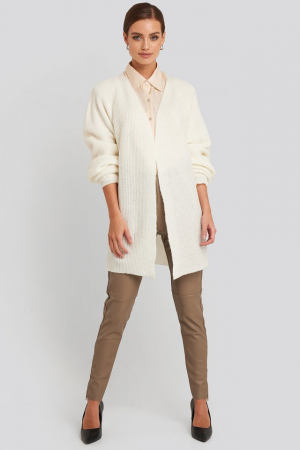 Dropped Shoulder Knitted Cardigan0