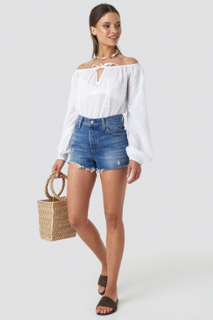 Bluza Embroidery Off Shoulder Top [2]