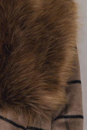 Palton Faux Fur Collar Coat NA-KD, Brown [1]