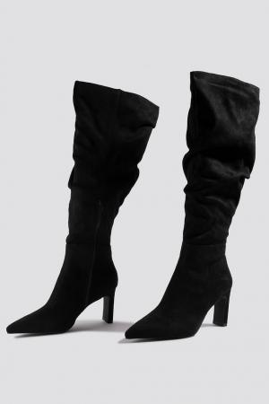 Cizme Faux Suede Loose Shaft Boots [1]
