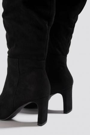Cizme Faux Suede Loose Shaft Boots [2]