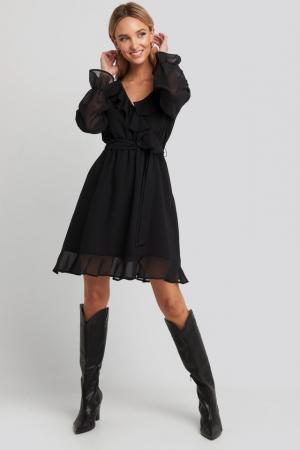 Rochie Flounce Chiffon Mini [2]