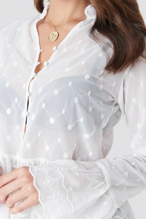 Bluza Flute Sleeve Frill Detail Top3