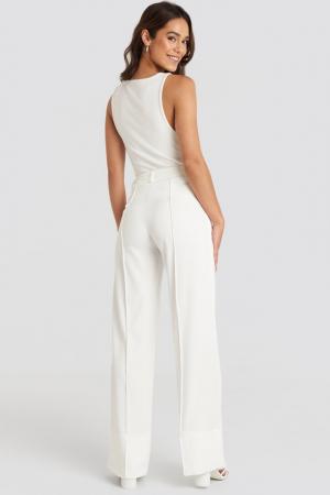 Pantaloni Fold Up Flared [3]