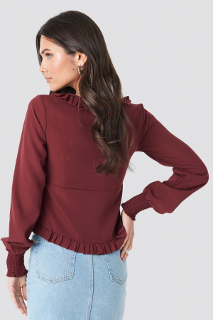 Bluza Frill Detail Buttoned1