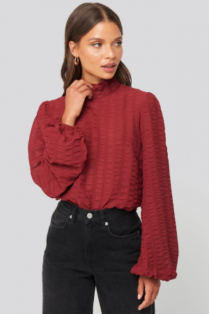 Bluza Frill Neck Structured Blouse0