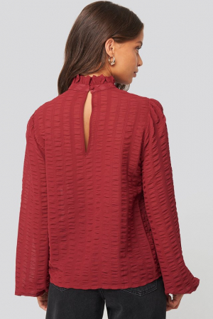 Bluza Frill Neck Structured Blouse1