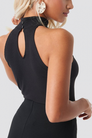 High Neck Ribbed Top [1]