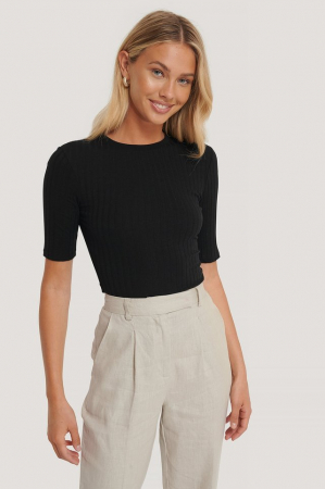 Tricou High Round Neck Ribbed [0]