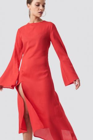 Rochie High Slit Asymmetric Midi Dress [2]