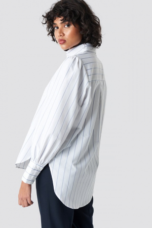 Camasa High Slit Oversized Striped [1]
