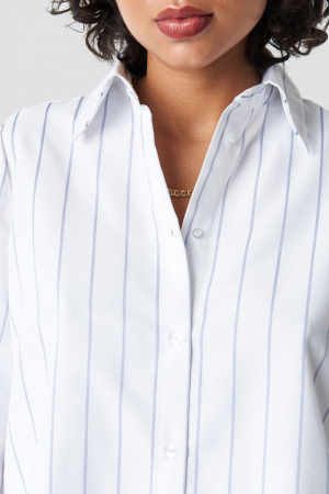 Camasa High Slit Oversized Striped [2]
