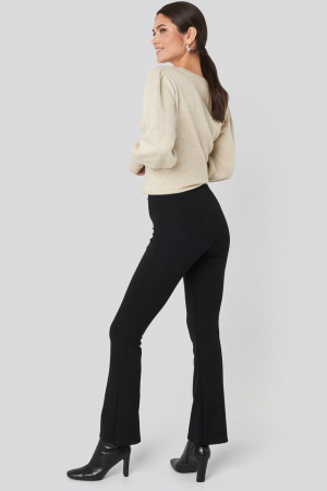 Pantaloni High Waist Flare Jersey [3]
