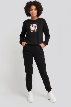 Pantaloni High Waist Slim Leg Jogger0