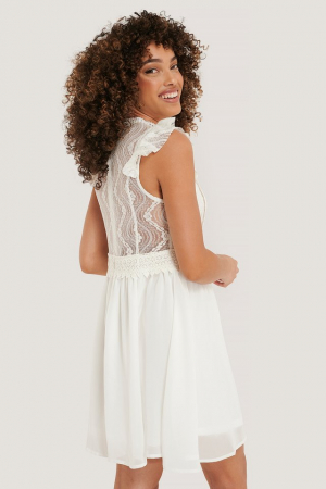 Lace Anglaise Mini Dress0