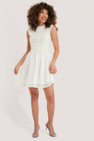Lace Anglaise Mini Dress1