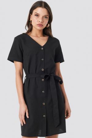 Rochie Linen Look Buttoned [0]