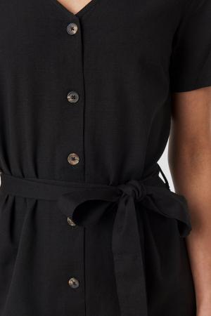 Rochie Linen Look Buttoned [2]