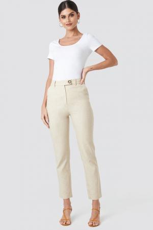 Pantaloni Aspect din In Linen Look [0]