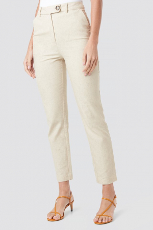 Pantaloni Aspect din In Linen Look [1]