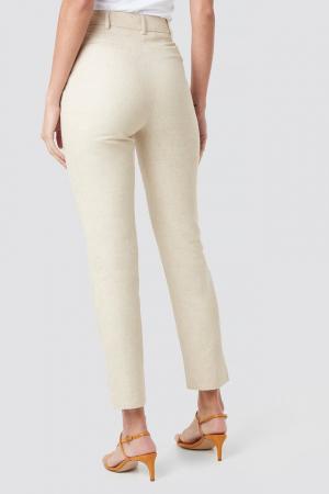 Pantaloni Aspect din In Linen Look [2]