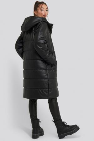 Jacheta Long PU Padded Jacket [0]