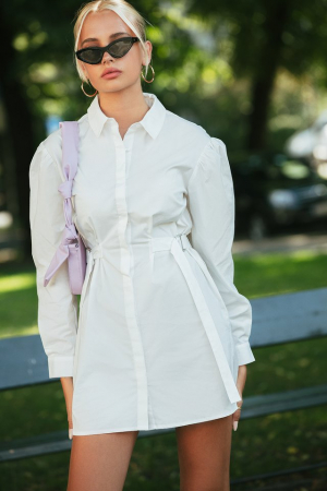 Rochie Marked Waist Oversized Shirt [0]